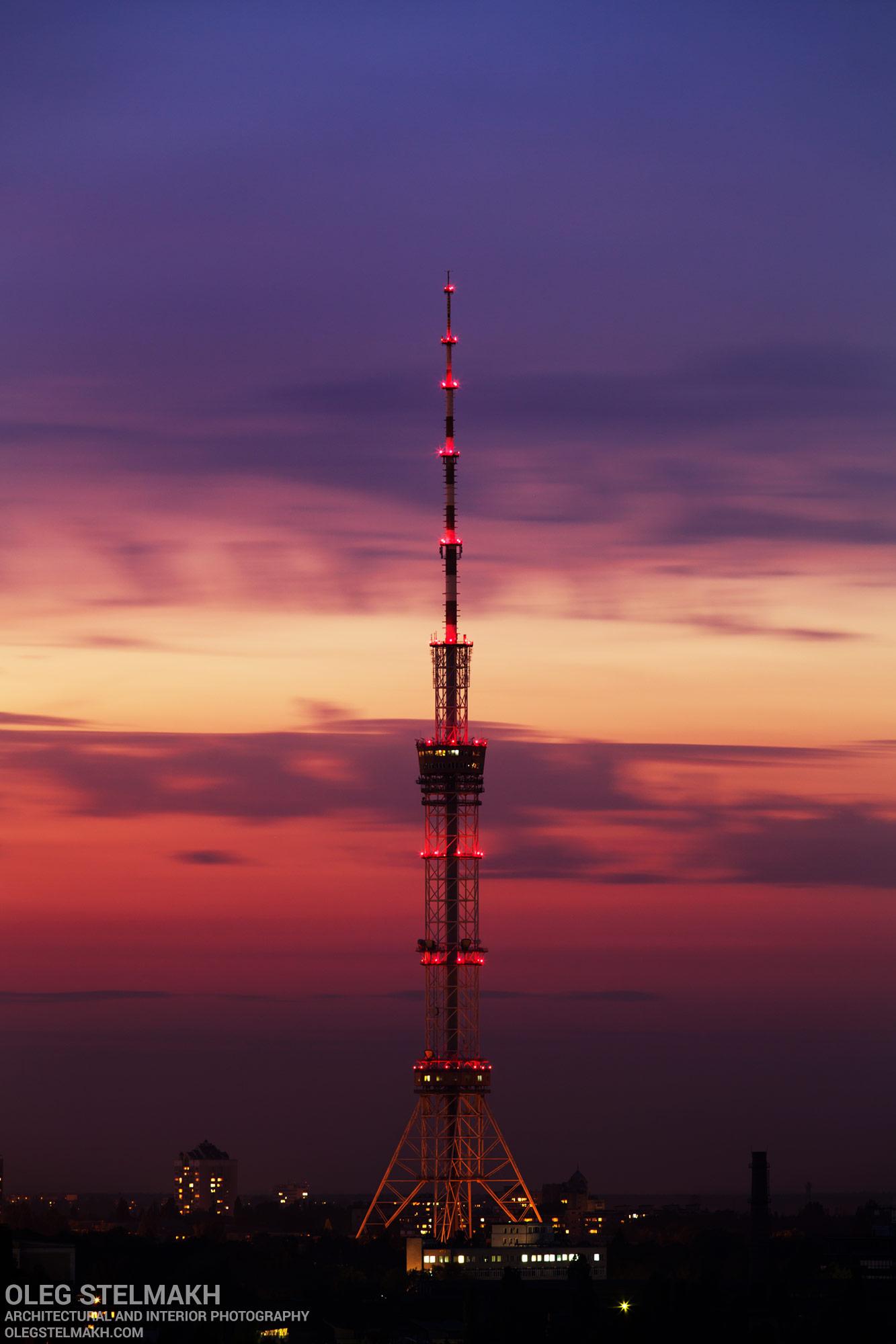 Киевская телевышка на закате