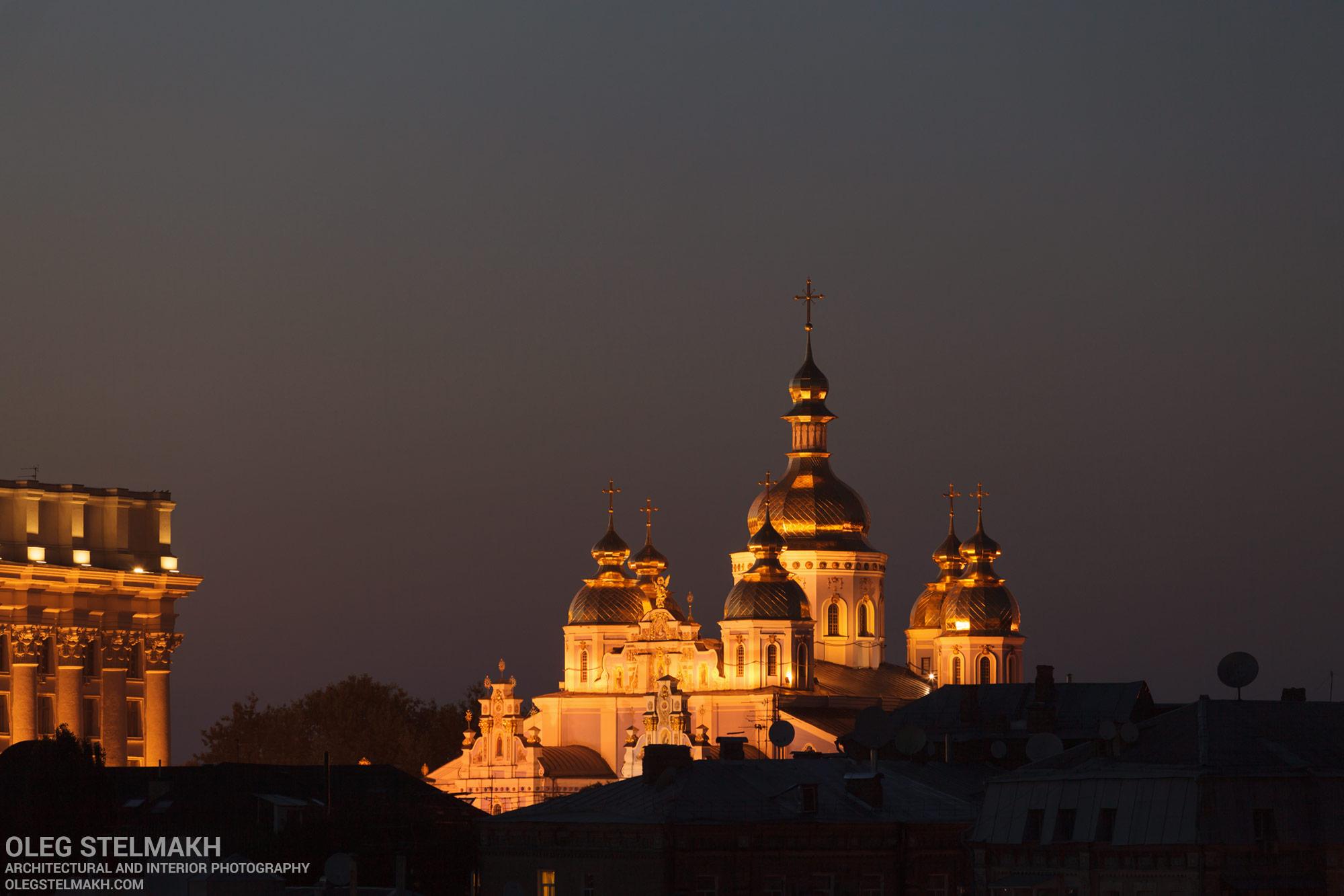 Ночной Киев. Михайловский собор