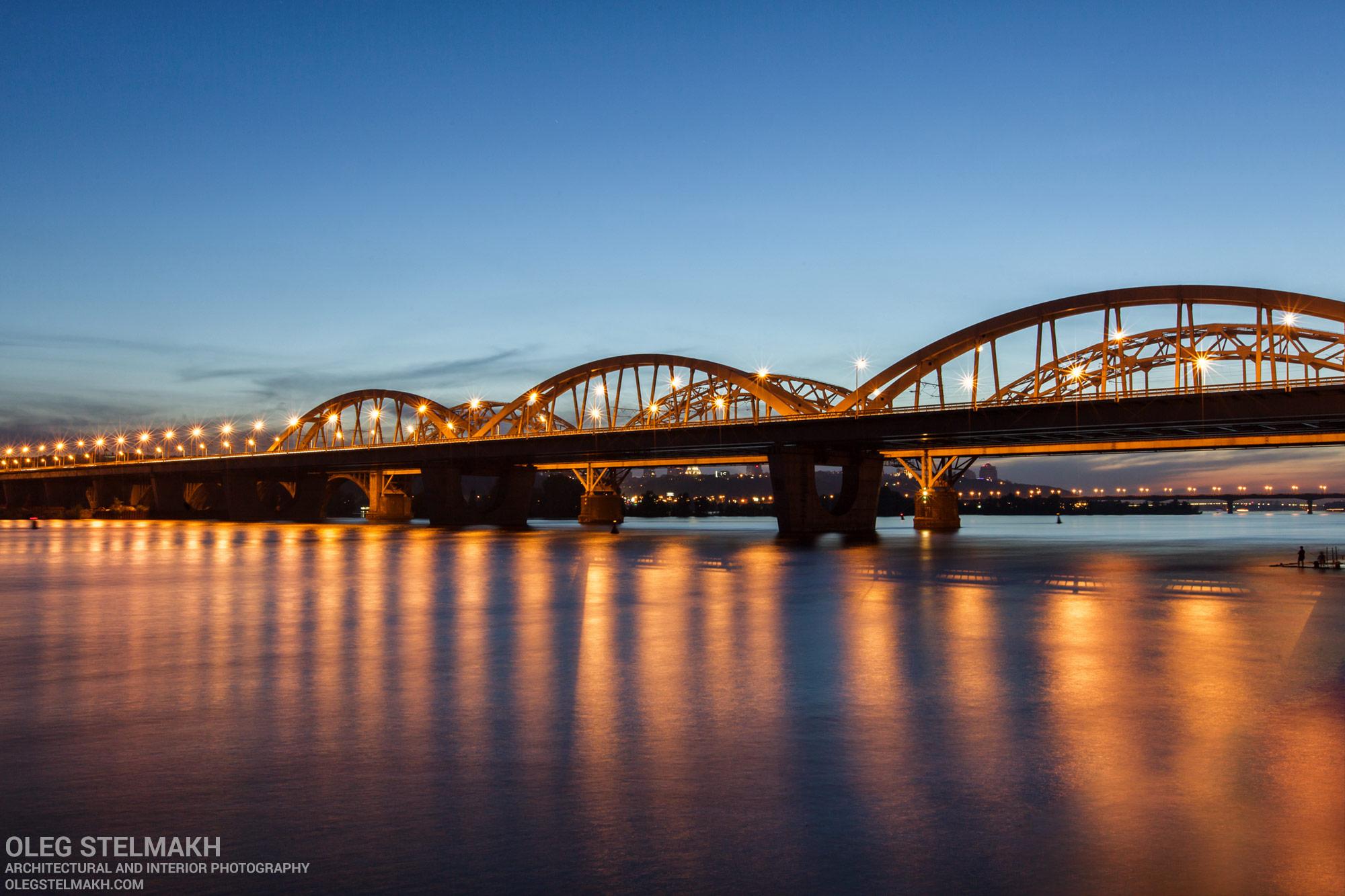 Вечерний Киев. Дарницкий мост